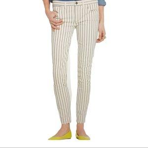 MADEWELL Skinny Skinny Ankle Pinstripe Jeans Cream